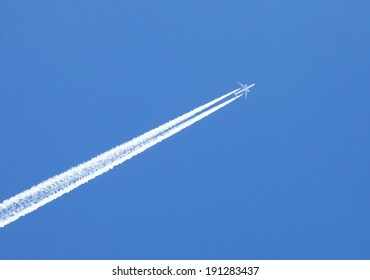 travel concept. flying in the blue sky plane