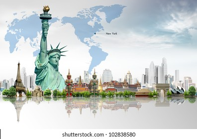 Travel concept, Liberty Enlightening the World