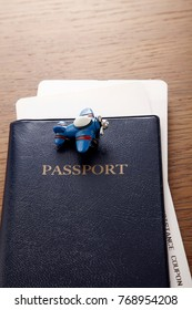 travel concept passport and little airplane