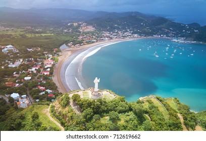 Travel destination in Nicaragua. San Juan del sur panorama city