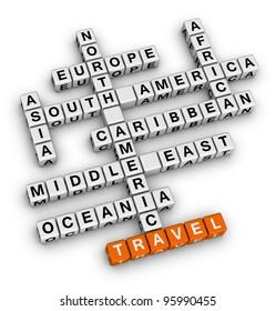 travel direction crossword
