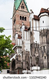 Travel to Germany - Augsburg Cathedral (Augsburger Dom) in overcast spring day