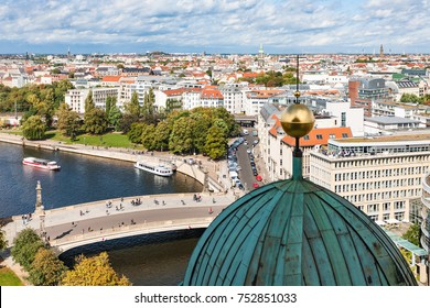 travel to Germany - Berlin cityscape with Spree River from Berliner Dom in september