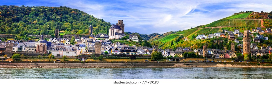 travel in Germany - cruise over Rhine valley - pictorial town Ob