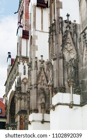 Travel to Germany - decor of Augsburg Cathedral (Augsburger Dom) in spring