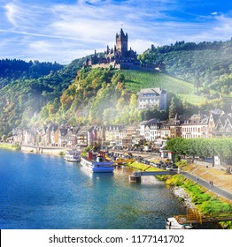 Travel in Germany - pictorial Cochem town. romantic Rhein river cruises