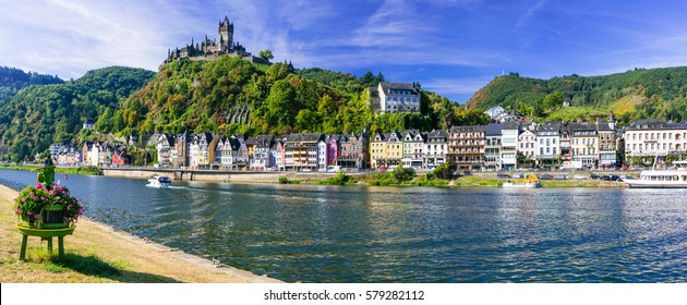 Travel in Germany - river cruises in Rhine river, medieval Cochem