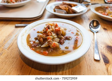travel to Iceland - lunch with Kjotsupa, traditional Icelandic Lamb Soup in Reykjavik city restaurant in september