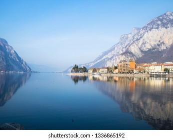 Travel to Italy - Lario Como lake near Lecco city, Lombardy