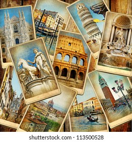 travel in Italy -vintage collage