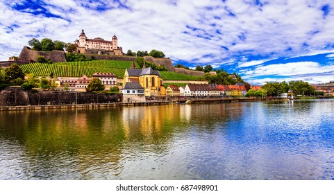 Travel and landmraks of Germany - beautiful Wurzburg town