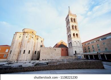 Travel location St. Donatus  a church located in Zadar, Croatia.