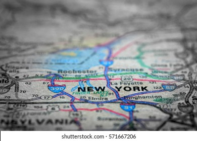 Travel to locations on map views paper destinations New York