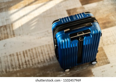 Travel luggage at home