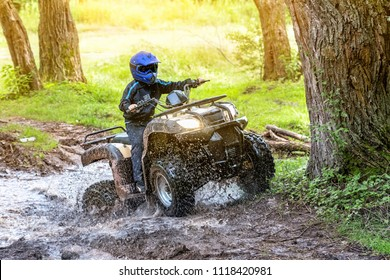 Travel on ATVs in river