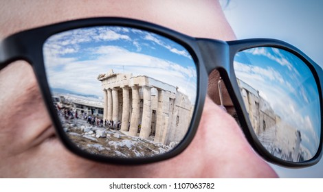 Travel and opening of Greece Athens. Vacation and archaeological sightseeing