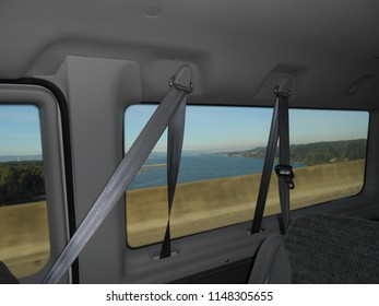 Travel over Columbia River Bridge enroute Vancouver to Portland