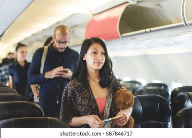 Travel Passenger Aeroplane Transportation Concept