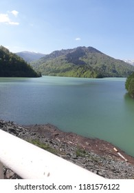 Travel photo from Arges county, View of Rausor Dam, Rausor Lake - a beautiful tourist attraction with various mountains trails.
