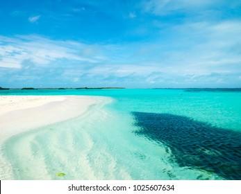 Travel photography - tropical seascape in Los Roques' Archipelago (Venezuela).