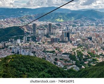 Travel photography - view of Caracas from Avila National Park (Venezuela).