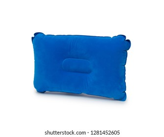Travel pillow isolated on the white background