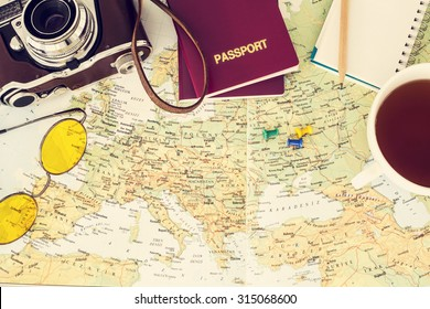 Mapa De Viajes Images Stock Photos Vectors Shutterstock