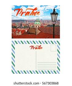 travel postcard with back, Czech Republic