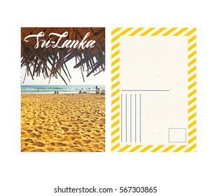 travel postcard with back srlanka