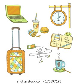Travel set colorful stickers