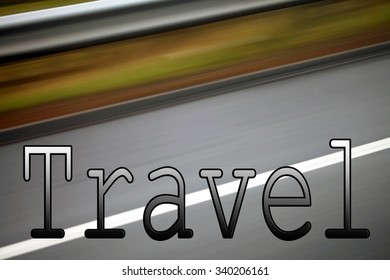 Travel sign, banner, header for transport, travel, tourism, places and vacations.