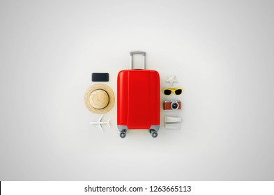Travel Suitcase With essentials