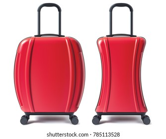 Travel suitcase isolated. 3D illustration