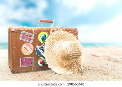 Travel, Suitcase, Label.