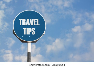 Travel Tips Sign