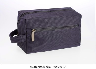 Travel toiletries bag - overnight-er on white background