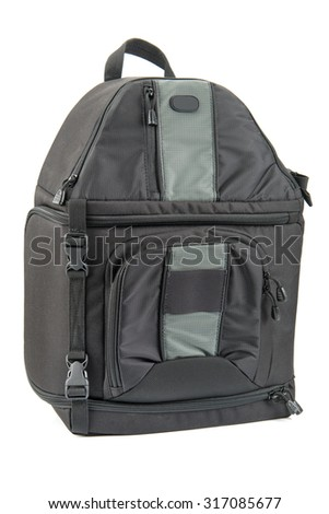 Travel Tourism Backpack Camera Bag Isolated Stock Photo (Edit Now ... 949fcd8ba2889