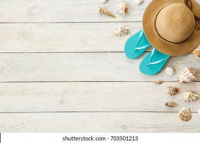 Travel tourism objects, top view vacation concept