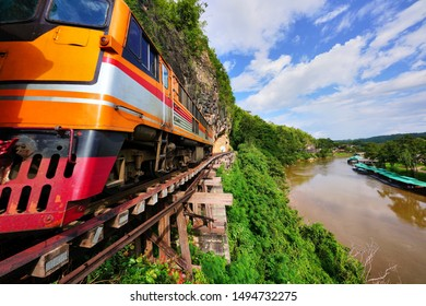 Travel Trip by Train on Death Railway route from Krasae Cave to Kanchanaburi town
