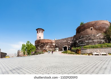 Travel to Turkey - entrance to Old Ankara Castle on Gozcu square. Ankara Castle is a citadel from early medieval years