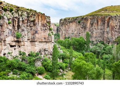 Travel to Turkey - gorge of Ihlara Valley in Aksaray Province in Cappadocia in spring