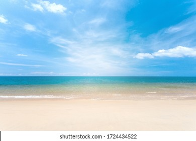 Travel vacation background, at summer beach, with sunny sky at Phuket,Thailand. - Shutterstock ID 1724434522
