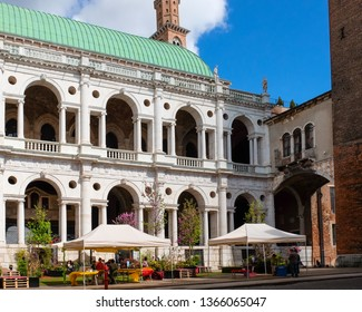 Travel at Vicenza historic center during the Italian Republic Celebration Day. Vicenza, Veneto, Italy - 2nd June 2018