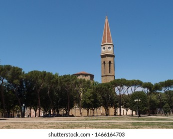 Travel view of Arezzo featuring Arezzo dome church. The image location is Tuscany in Italy, Europe.