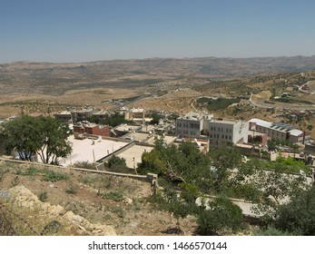 Travel view of Mardin Midyat featuring countryside Mesopotamia panorama. The image location is Turkey in Europe.