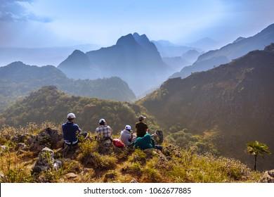 Travel Viewpoint Mountain Doi Luang Chiang Dao,ChiangMai, Thailand