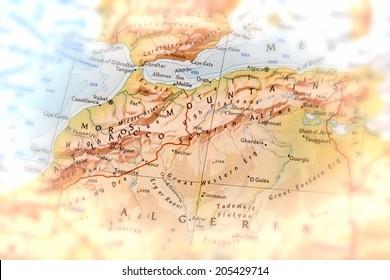 Traveler focused on Atlas Mountains - preparation for the journey