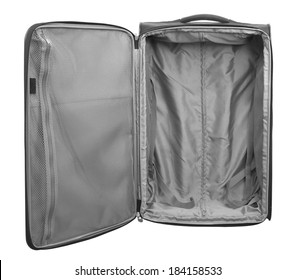 Traveler Large bag with wheels. Isolated on white background