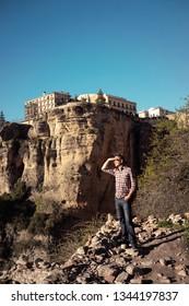Traveler man  Ronda Spain