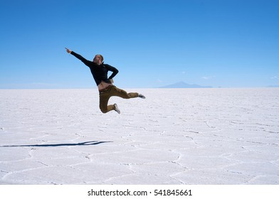 Traveler visited Salar de Uyuni. It is the largest salt flat in the world and it is located in the Daniel Campos Province in Potosi, southwest Bolivia, near the crest of the Andes.
